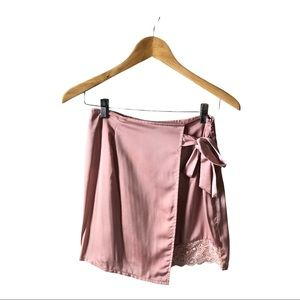 MISSGUIDED Asymmetrical Wrap Mini Skirt size 8